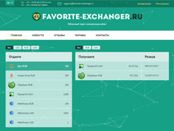 Снимок сайта favorite-exchanger.ru