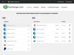 Site snapshot 1exchanger.com