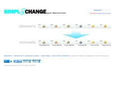 Снимок сайта simplechange.ru