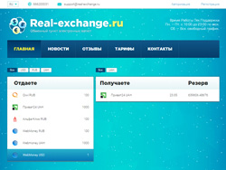 Снимок сайта real-exchange.ru