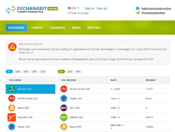 Снимок сайта exchangeit.online